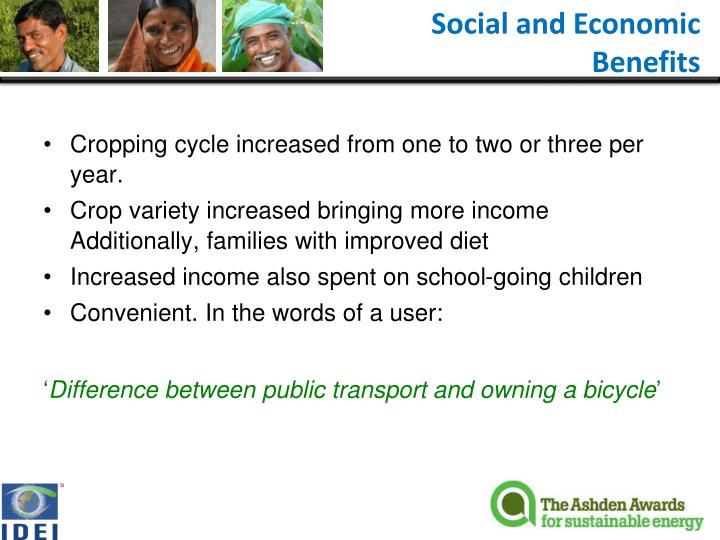 Social and Economic Benefits