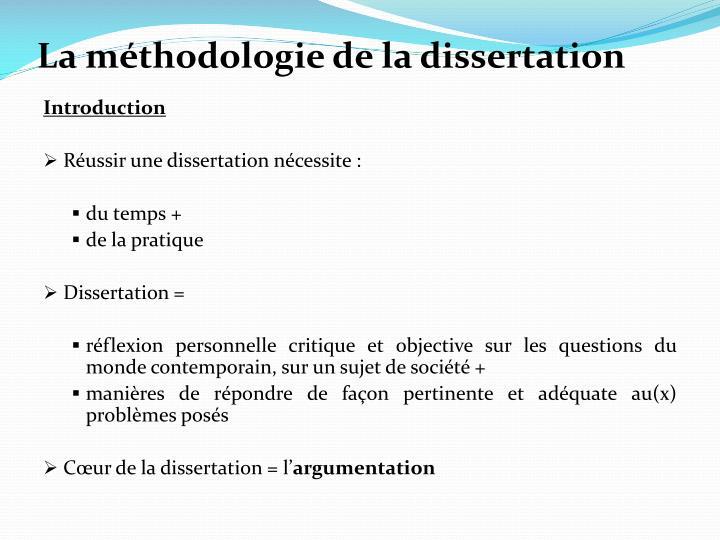 méthodologie dissertation eje