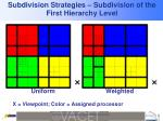 subdivision strategies subdivision of the first hierarchy level