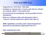 visit and amr data