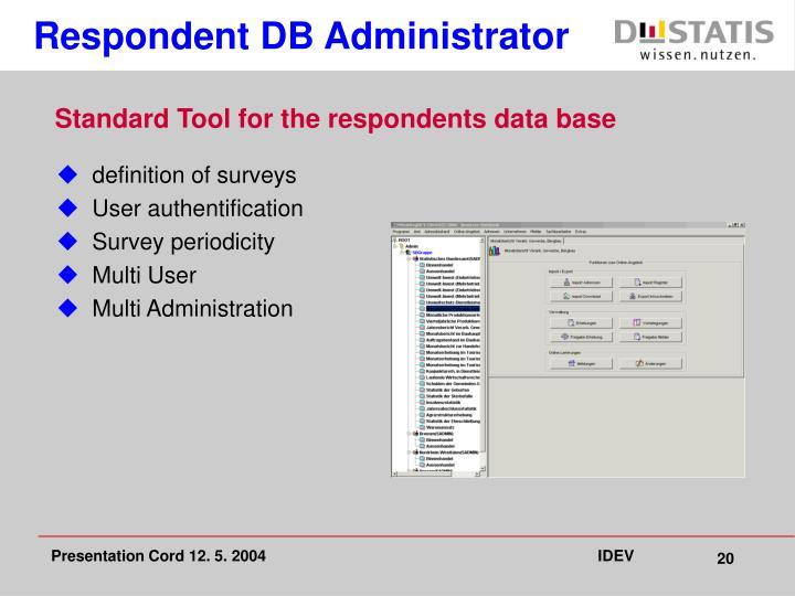Respondent DB Administrator