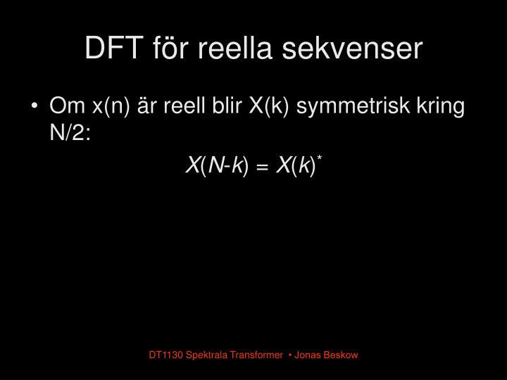 DFT för reella sekvenser