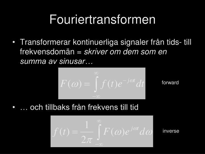 Fouriertransformen