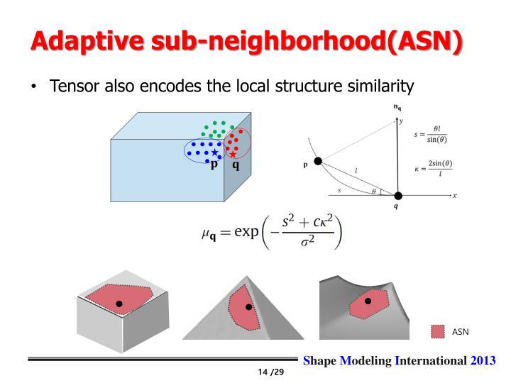 Adaptive sub-neighborhood(ASN)