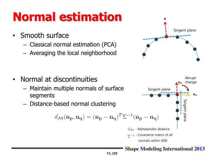 Normal estimation