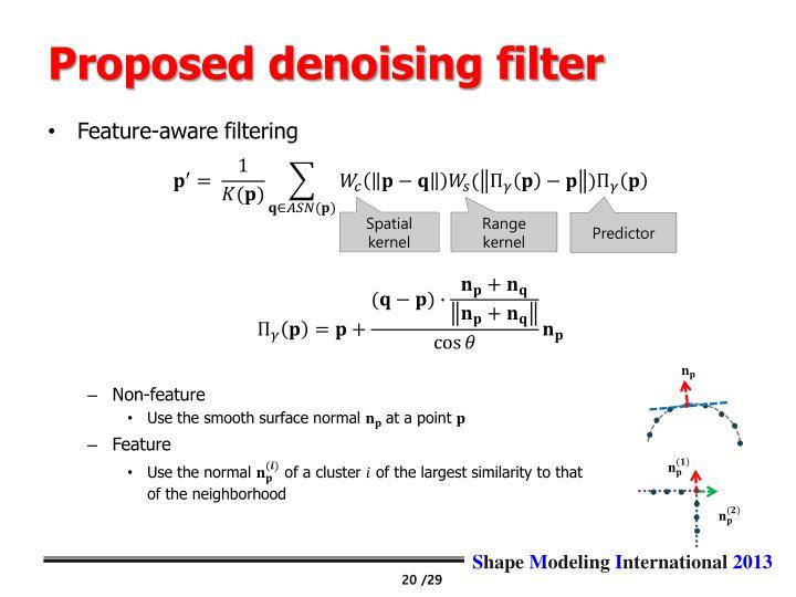 Proposed denoising filter