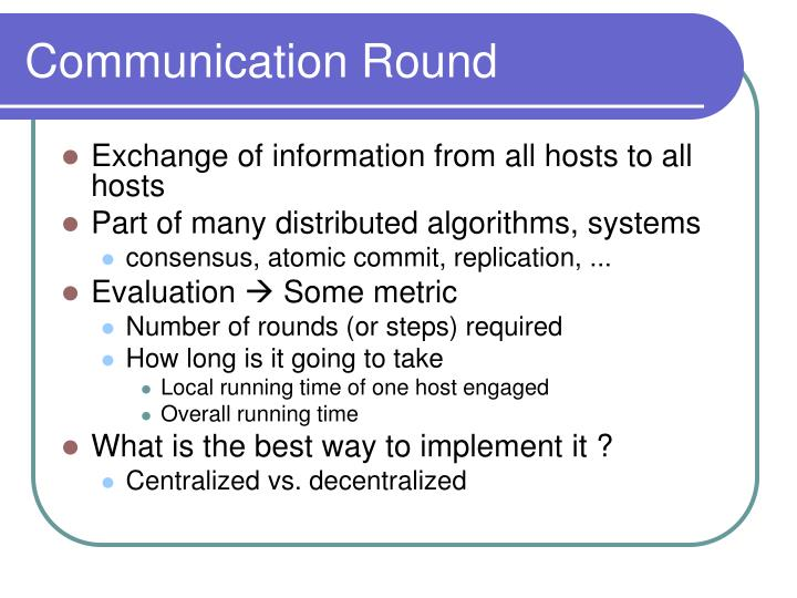 Communication Round
