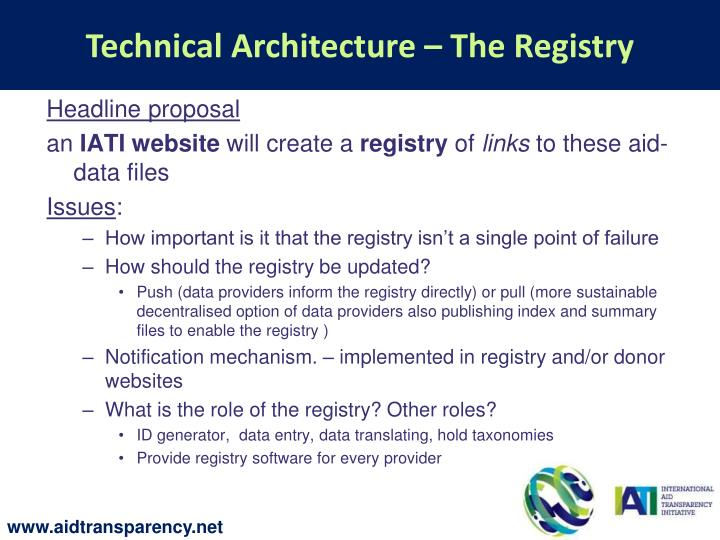 Technical Architecture – The Registry