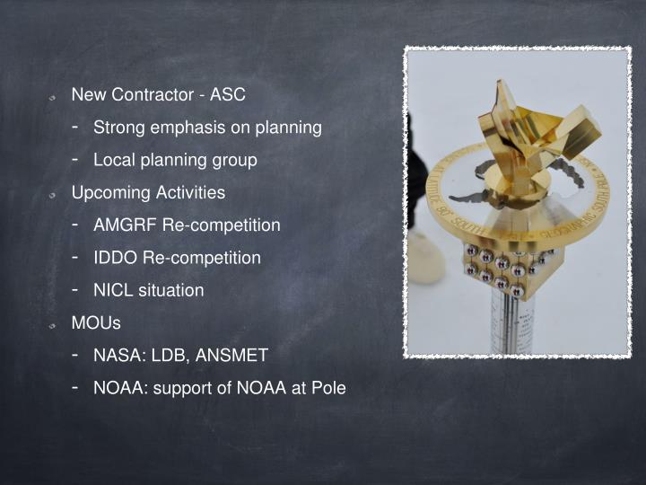 New Contractor - ASC