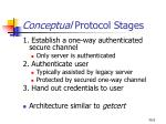 conceptual protocol stages