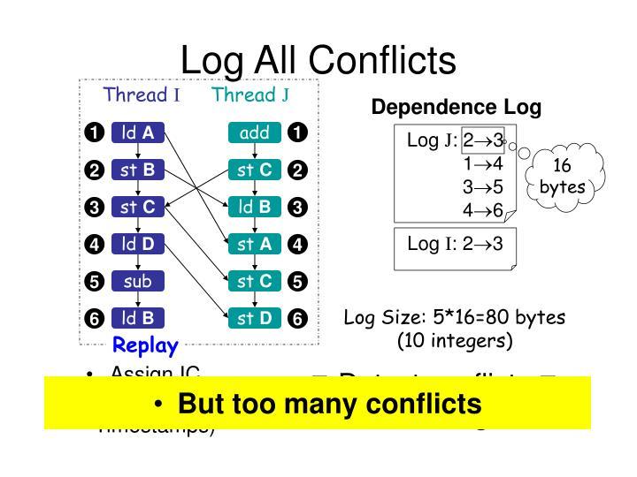 Dependence Log