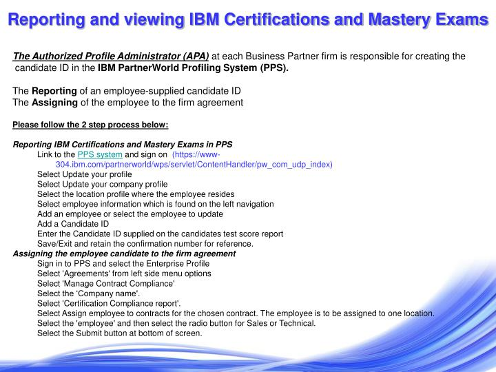 Ppt Ibm Technical Support Services Certification Process January