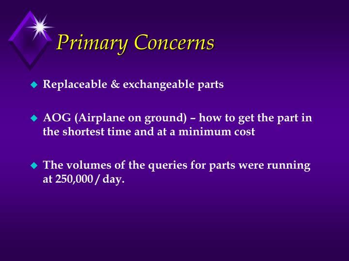 Primary Concerns