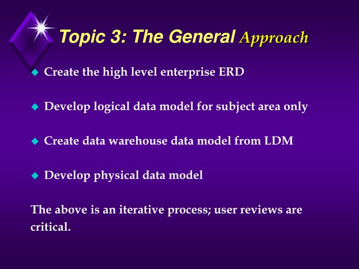 Topic 3: The General