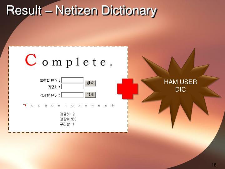 Result – Netizen Dictionary