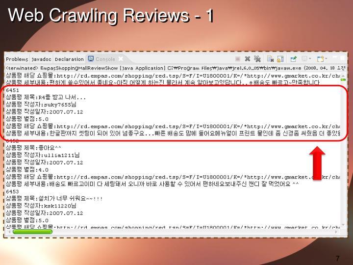 Web Crawling Reviews - 1