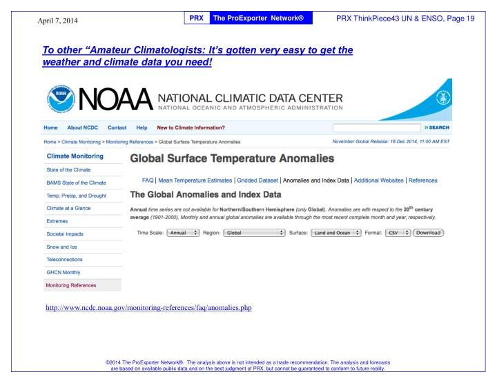 """To other """"Amateur Climatologists: It's gotten very easy to get the weather and climate data you need!"""