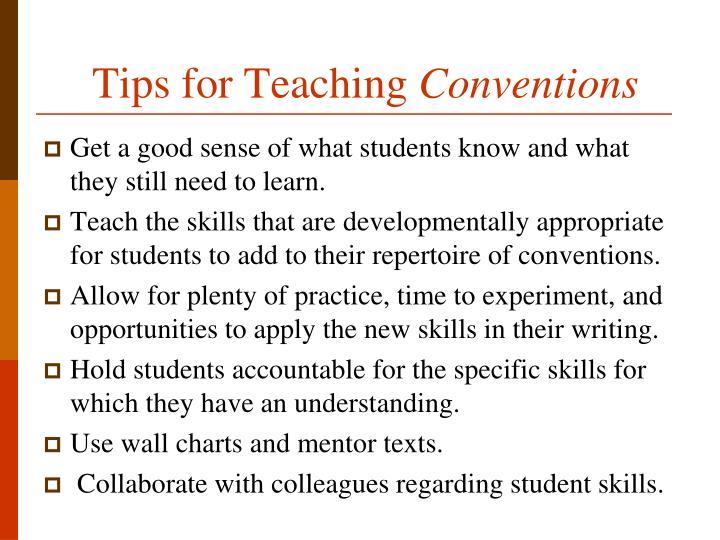 Tips for Teaching