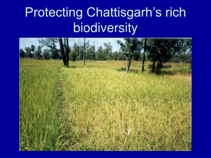 Protecting Chattisgarh's rich biodiversity