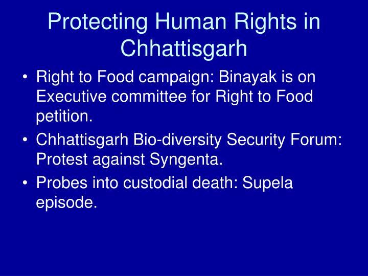 Protecting Human Rights in Chhattisgarh