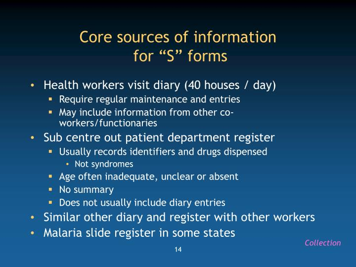 Core sources of information
