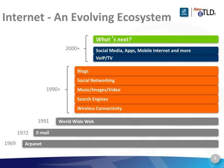 Internet an evolving ecosystem