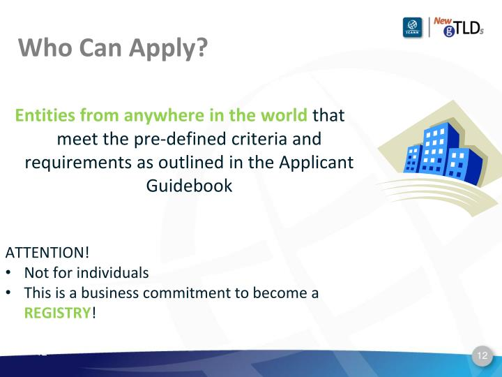 Who Can Apply?