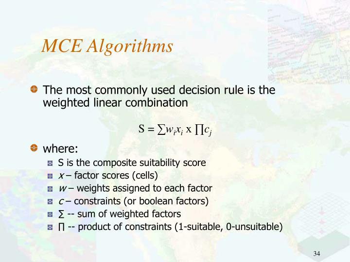 MCE Algorithms