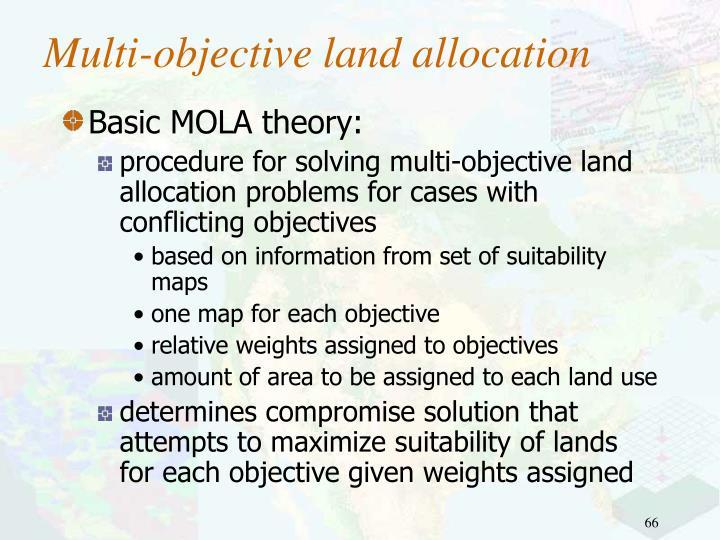 Multi-objective land allocation
