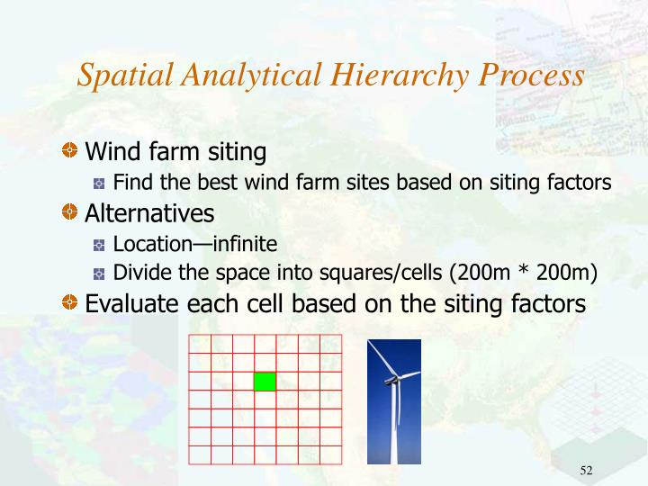 Spatial Analytical Hierarchy Process
