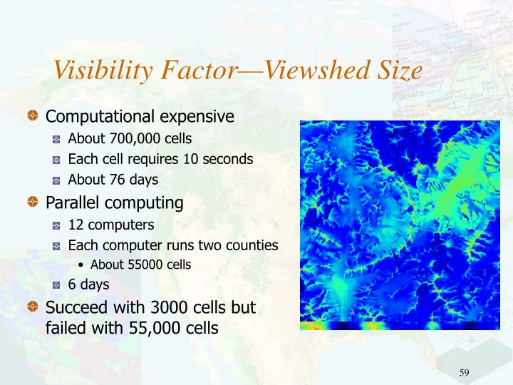 Visibility Factor—Viewshed Size