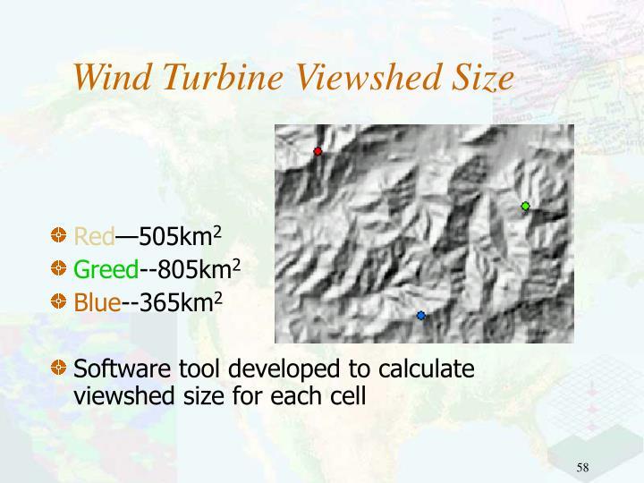Wind Turbine Viewshed Size