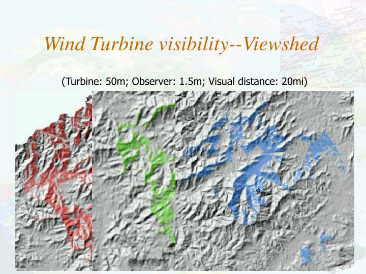(Turbine: 50m; Observer: 1.5m; Visual distance: 20mi)
