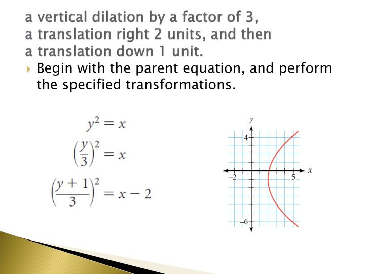a vertical dilation by a factor of 3,
