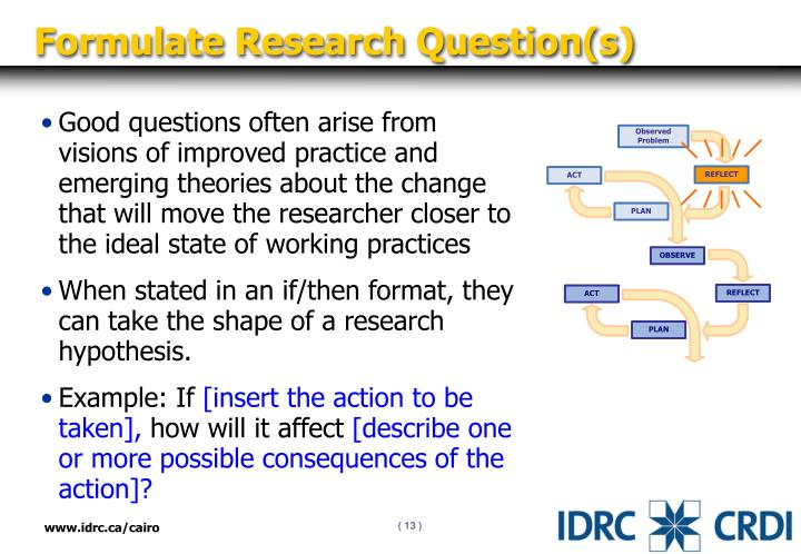 Formulate Research Question(s)