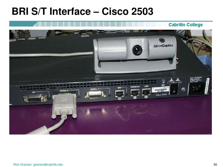 BRI S/T Interface – Cisco 2503