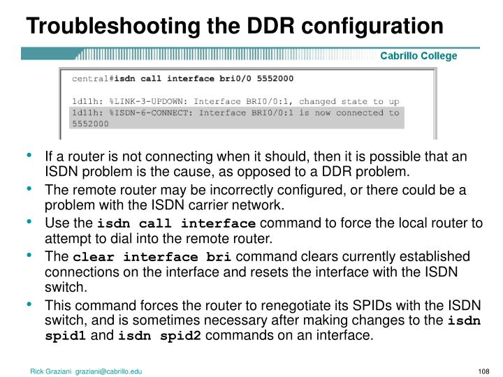 Troubleshooting the DDR configuration