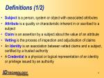 definitions 1 2