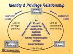 identity privilege relationship