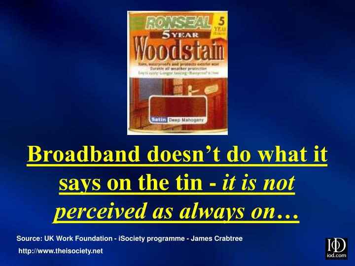 Broadband doesn't do what it says on the tin -