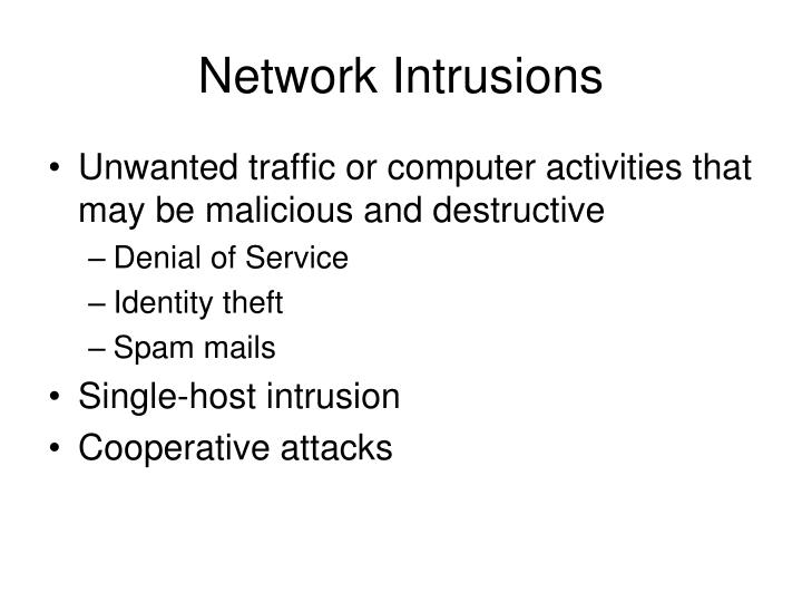 Network intrusions