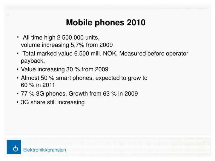 Mobile phones 2010