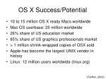 os x success potential