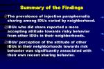 summary of the findings