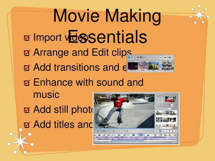 Movie Making Essentials