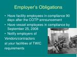 employer s obligations