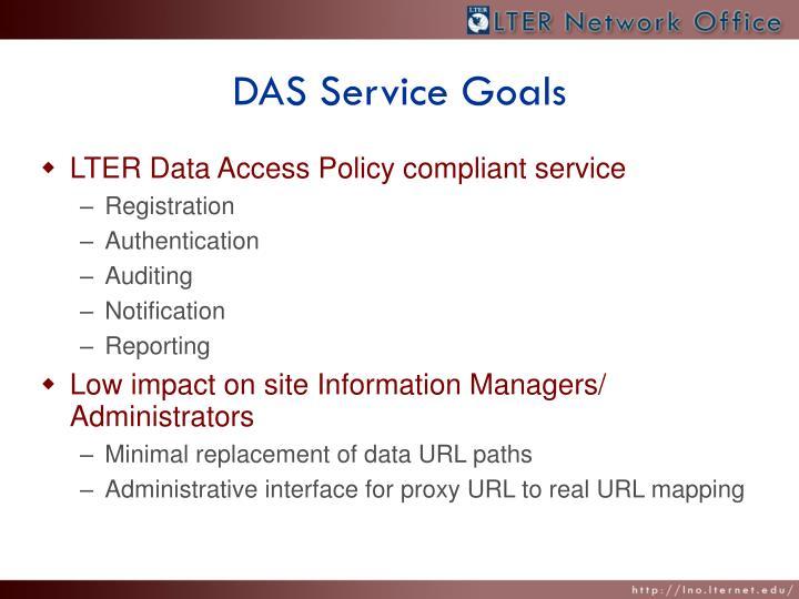 DAS Service Goals