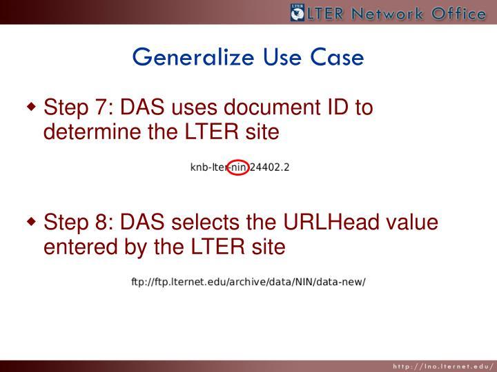 Generalize Use Case