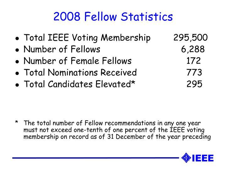 2008 Fellow Statistics