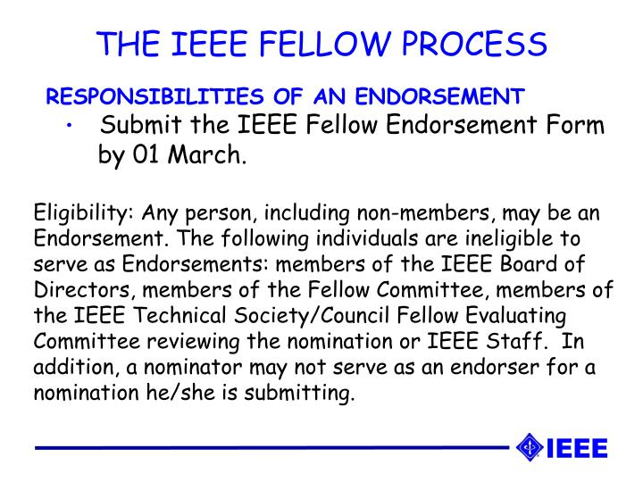 THE IEEE FELLOW PROCESS